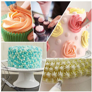 Kootek 22 Pcs Cake Decorating Kit with 12 Inch Aluminum Alloy Revolving Cake -