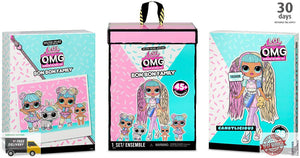L.O.L. Surprise! O.M.G. Candylicious Family Bundle with OMG Doll 2 Tots Pet -