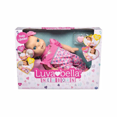 Luvabella Newborn Blonde Hair Interactive Baby Doll with Real Expressions -