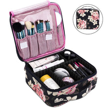 Load image into Gallery viewer, Makeup Bag Travel Cosmetic Bag for Women Nylon Cute Makeup Case Large Dark Blue -