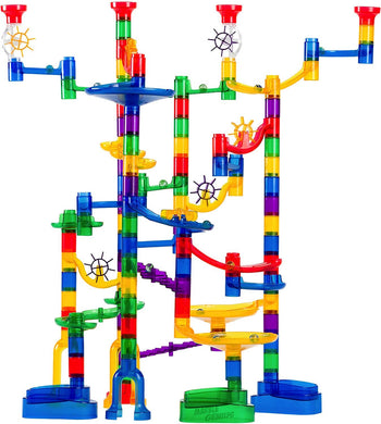 Marble Genius Marble Run Super Set - 100 Complete Pieces + Free Instruction App -