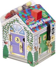 Load image into Gallery viewer, Melissa & Doug Take-Along Wooden Doorbell Dollhouse Poseable Dolls -