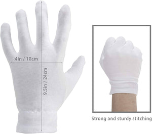 Moisturizing Gloves OverNight Bedtime Cotton Cosmetic Inspection Premium Cloth -