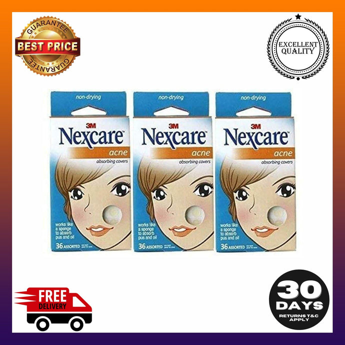 Nexcare Acne Absorbing Covers, Assorted 36 ea package of 3 -