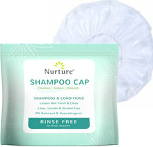 Load image into Gallery viewer, No Rinse Shampoo Cap by Nurture (6-Pack) Rinse Free Shower Cap Hypoallergenic -
