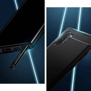 Note 10 Plus5G Samsung Galaxy SPIGEN Rugged carbon Armor Soft Cover -