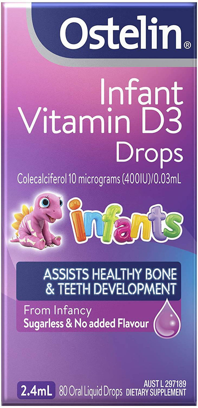 Ostelin Infant Vitamin D3 Drops Helps with bone immune system -