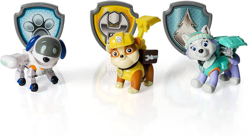 Paw Patrol Action Pack Pups Figure Set, 3 Pack, Everest/Robodog/Rubble -