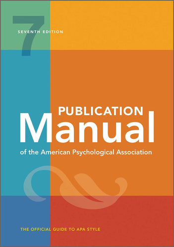 Publication Manual of the American Psychological Association 7ed -