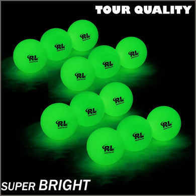 R&L Glow Golf Balls for Night Sports -