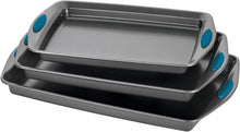 Load image into Gallery viewer, Rachael Ray 47425 Nonstick Bakeware Set with Grips, Nonstick Cookie Sheets -