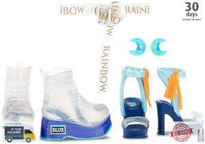 Rainbow Surprise Rainbow High Skyler Bradshaw – Blue Fashion Doll with 2 Outfits -