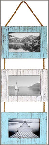 Rustic Farmhouse Distressed Picture Frames Wood Photo Frame Display -