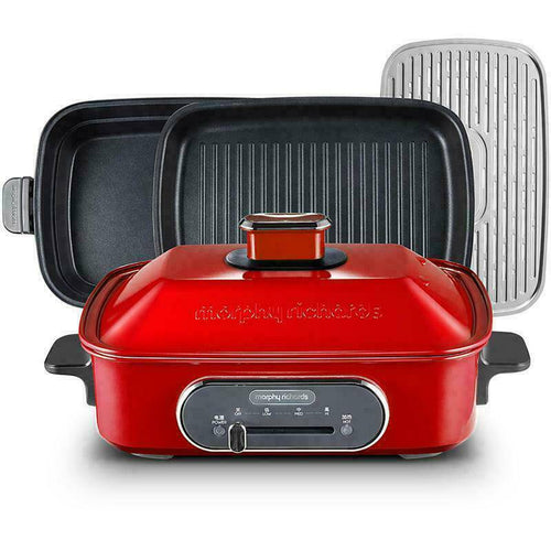 Slow cooker Cooking Pot Morphy Richards 3-in-1 Cooking Pot Red Multi function -