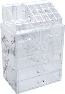 Sorbus Luxe Marble Cosmetic Makeup and Jewelry Storage Case Display Spacious -