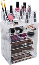 Load image into Gallery viewer, Sorbus Luxe Marble Cosmetic Makeup and Jewelry Storage Case Display Spacious -