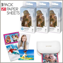 Load image into Gallery viewer, Sprocket Photo Paper Sheets 3 Pack of 50 HP -