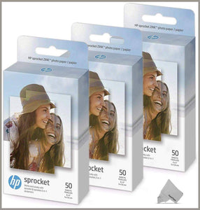 Sprocket Photo Paper Sheets 3 Pack of 50 HP -