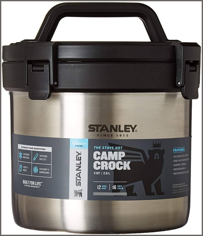 Stanley Adventure Stay Hot 3qt Camp Crock - Vacuum Insulated Stainless Steel Pot -