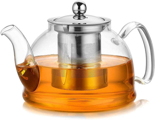 Teapot with  Premium grade Stainless Steel Infuser Lid Stove Safe 1050ML -