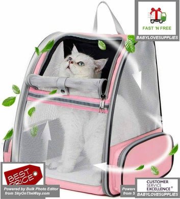 Texsens Innovative Traveler Bubble Backpack Pet Carriers for Cats and Dogs -