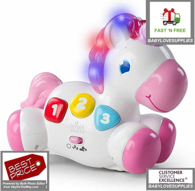 Unicorn Toy  Glow Unicorn Toy Pink for infants baby Toys entertain play fun gift -