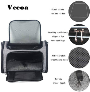 Vceoa Airline Approved Pet Carriers, Soft Sided Collapsible Pet Travel Carrier -