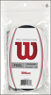 Wilson Pro Sensation Overgrip (30-Pack), Black -