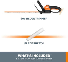 Load image into Gallery viewer, WORX WG261.9 22-Inch 20-Volt Cordless Hedge Trimmer -