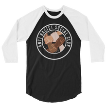 Load image into Gallery viewer, Anti Racist Social Club 3/4 sleeve raglan Baseball shirt