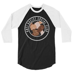 Anti Racist Social Club 3/4 sleeve raglan Baseball shirt