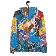 Load image into Gallery viewer, Anti Racist Social Club Paisley And Patchwork Bandana Print Unisex Hoodie