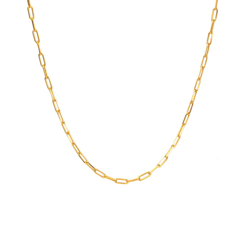 Sterling Silver Small Oval Chain Necklace - NECKLACE - [variant.title]- Borboleta