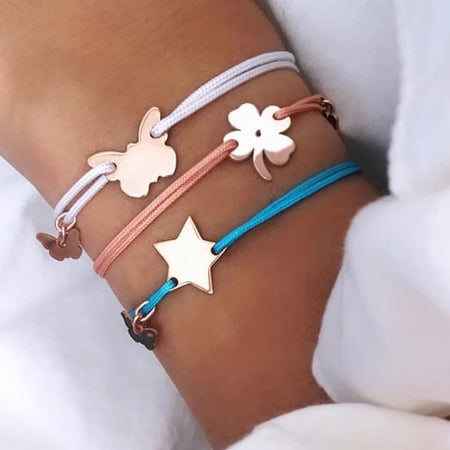Classic Star Bracelet - White Gold Plated