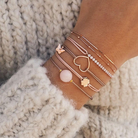 Hole Heart Bracelet - Rose Gold Plated