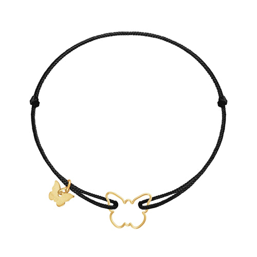 Hole Butterfly Bracelet - Yellow Gold Plated - BRACELET - [variant.title]- Borboleta
