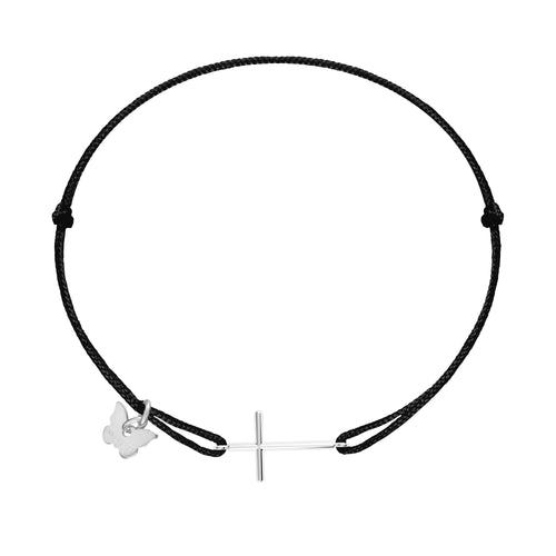 Cross Bracelet - White Gold Plated - BRACELET - [variant.title]- Borboleta