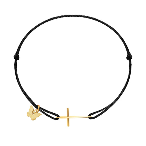 Cross Bracelet- Yellow Gold Plated - BRACELET - [variant.title]- Borboleta
