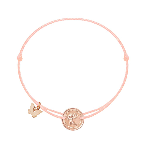Angel Medallion Bracelet - Rose Gold Plated - BRACELET - [variant.title]- Borboleta