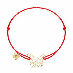 Lace Butterfly Bracelet - Yellow Gold Plated - BRACELET - [variant.title]- Borboleta