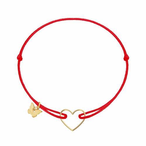 Hole Heart Bracelet - Yellow Gold Plated - BRACELET - [variant.title]- Borboleta