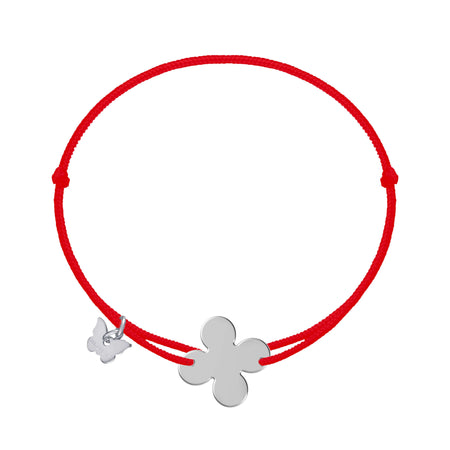 Retro Clover Bracelet - White Gold Plated