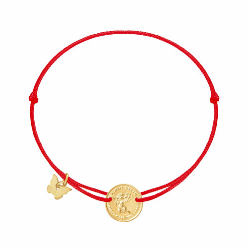 Angel Medallion Bracelet - Yellow Gold Plated - BRACELET - [variant.title]- Borboleta