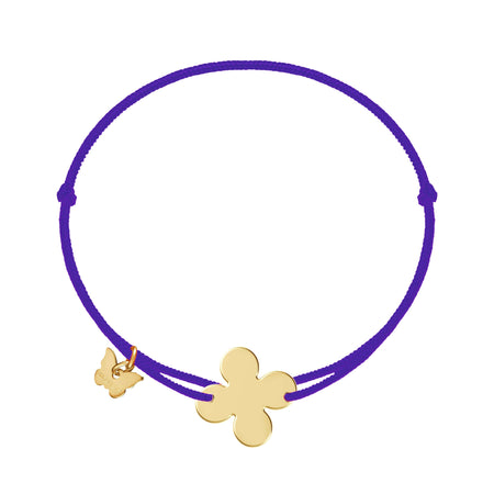 Retro Clover Bracelet - Yellow Gold Plated