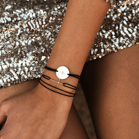 Cross Bracelet - Rose Gold Plated - BRACELET - [variant.title]- Borboleta