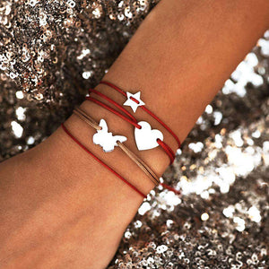 Small Star Bracelet - White Gold Plated - BRACELET - [variant.title]- Borboleta