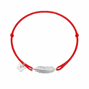 Feather Braclet - White Gold Plated