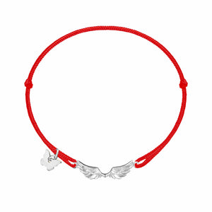 Wings Bracelet - White Gold Plated