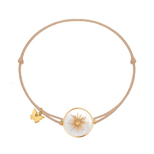 Memoire Sun Medallion MoP Bracelet - Yellow Gold Plated
