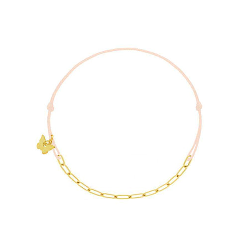 Oval Chain Bracelet - Yellow Gold Plated - BRACELET - [variant.title]- Borboleta